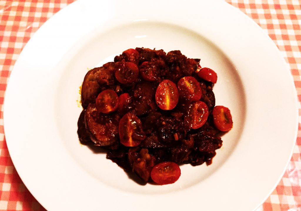 辣酱番茄烩茄子